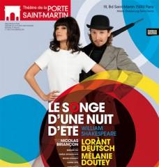lorant deutsch, scene, theatre, melanie doutey, porte saint martin, songe d'une nuit d'été